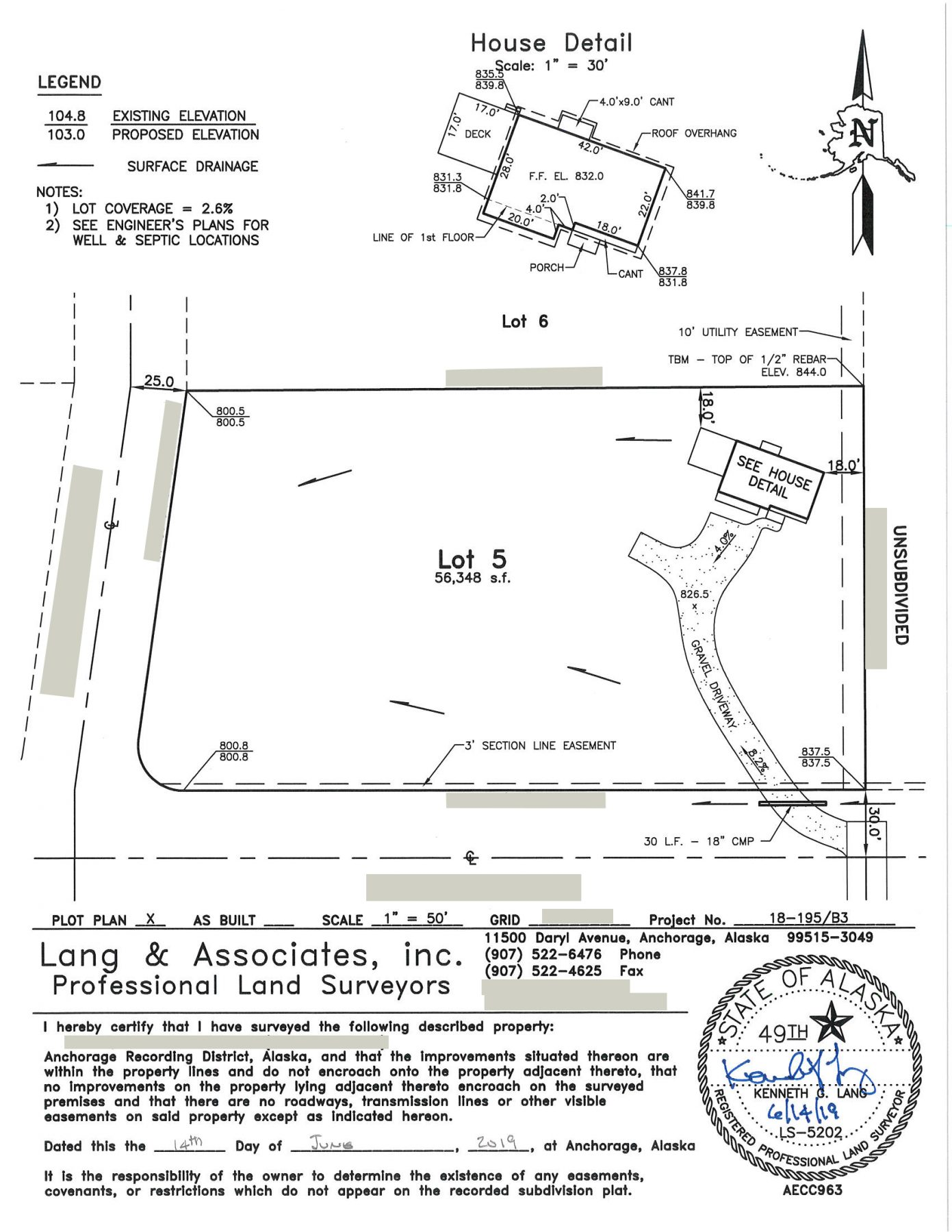 AK House Project plot plan