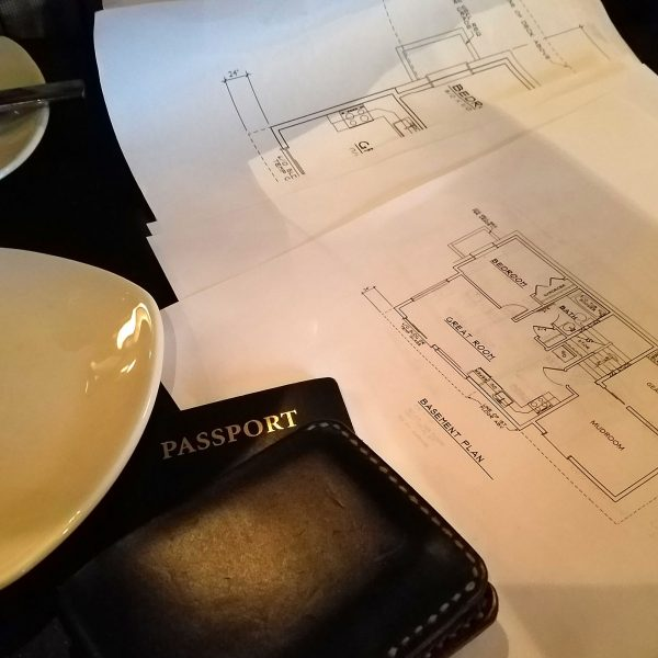 AK House Project plans lying on dinner table